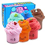 LAWOHO Butter Slime Kit, 6 Pack, Super Soft Non-Sticky and No-Toxic DIY Stress Relief Toys Gift for Boys, Girls, Kids and Adults 190