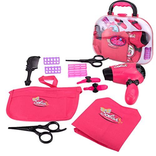 NURICH 11 unids secador de pelo juguete con cámara de juguete peluquería kit maquillaje juguete belleza regalo para niñas