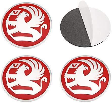 4 Piezas Tapacubos, para Opel Vauxhall Astra K Insignia Vectra Crossland Corsa, Impermeable Antióxido Decoración Accesorios Tapas Centro Rueda, Modificadas Hub Caps con Emblema, 56MM
