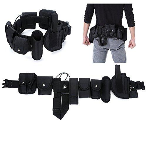 YAHILL Cinturón Táctico de Utilidad, Seguro Equipo por Policía Yaplicación de la Ley, Equipo de Nylón para Trabajo Pesado Combate & Oficial, o Estuche de Esposas