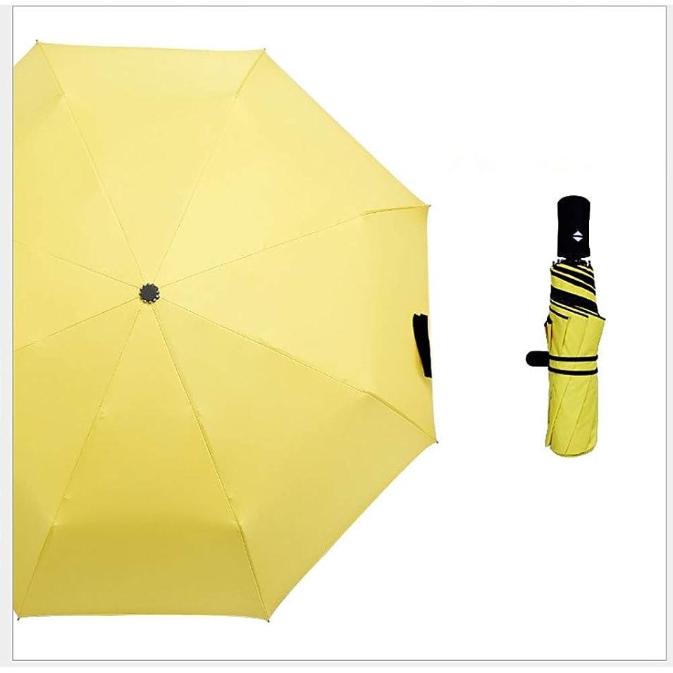 震える行商人キウイ三つ折り自動ファッション傘