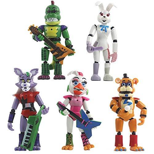 XKMY Juego de 5 figuras de acción Five Nights At Freddys Juguetes de seguridad serie Breach Muñecas para niños regalos figuritas (color 5 piezas)