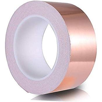 30mmX25m EMI Kapton Tape Klebeband Selbstklebend Abschirmband Kupferfolie Kupferband 30mmx25M