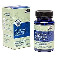 Motherlove More Milk Moringa Vegan Capsules (60 caps) Fenugreek-Free Blended Herbal Lactation Supplement to Support Breast Milk Supply for Breastfeeding Moms—Non-GMO, Organic Herbs, Soy-Free, Kosher