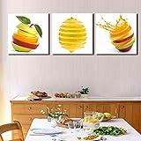 liwendi Quadro da Cucina con Frutta Dipinto su Tela Stampa Mela...