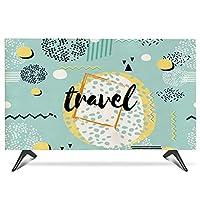 テレビ 保護カバー 屋内テレビカバー19~65インチ 反応性印刷および染色綿およびリネンtvは 屋外の防塵防止 さまざまなモデルと互換性があります(Size:28in/W68cmxHC43M)