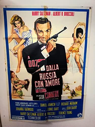 Manifesto 2 pezzi - 007 - Dalla Russia con amore - Terence Young - Sean Connery