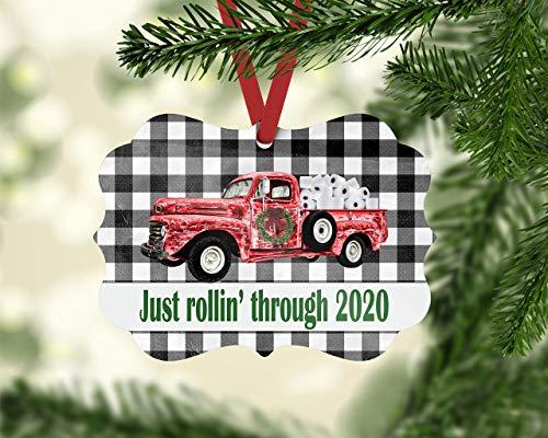 Price comparison product image None-Brands 2020 Christmas Tree Decor Covid Ornament,  Toilet Paper Ornament,  Family Ornament,  Christmas Ornament,  red Truck Ornament