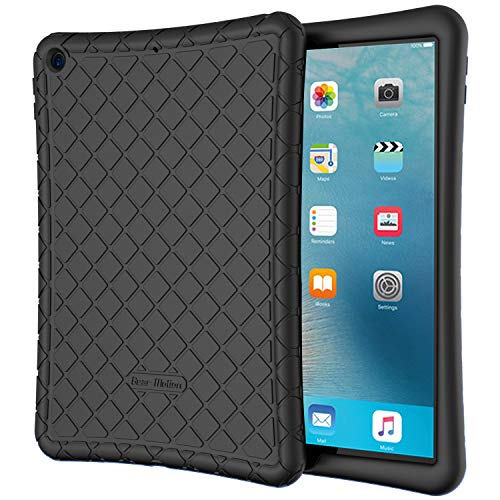 Bear Motion for New iPad 7th Generation Case 10.2 Inch 2019 - Premium Silicon Case for New iPad 10.2 Inch 2019 Release (New iPad 7th Generation Case 10.2 Inch 2019, Black)