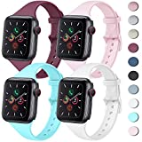 4 Pack Sport Bands Compatible with Apple Watch Band 38mm 40mm 42mm 44mm