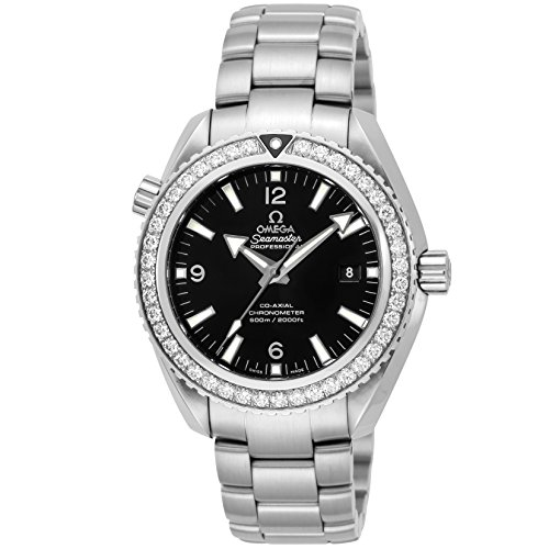 [オメガ] 腕時計 Seamaster Planet Ocean ブラック文字盤 コーアクシャル自動巻き ダイヤモンド 600m防水 232.15.46.21.01.001 レディース 並行輸入品 シルバー
