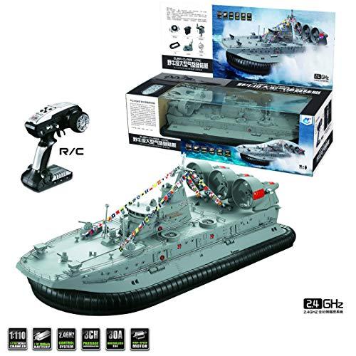 LMIITAM HG C201 1: 110 2,4G RC Boot Schiffsmodell Landung Wasser Luft Kissen Boot-Hellgrau