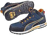 PUMA 633140.45 - Scarpe Antinfortunistiche Crossfit Mid S3 HRO SRC, Taglia 45, Colore: Blu/Arancione/Nero