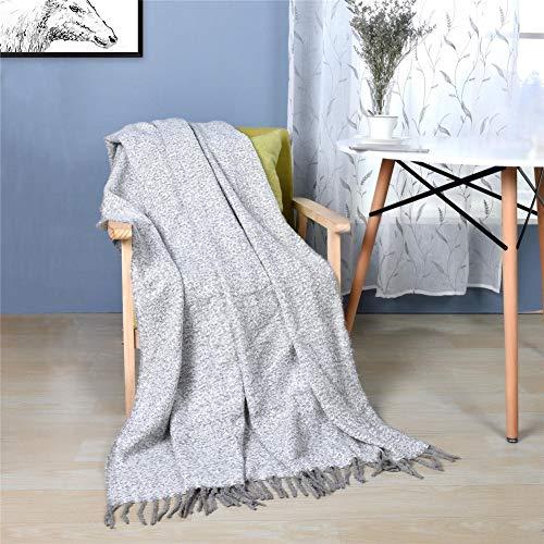 Manta Individual Decorativa Silla Home Accent Multifunción Mantas Cama Para Sofás Con Taslas Hechas A Mano,Gris