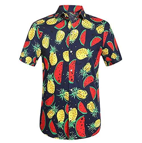 NOBRAND Camisa casual para hombre, gráfico impreso en 3D, vacaciones de verano, playa hawaiana camisas de manga corta para hombre