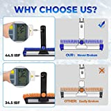 """JOYTUTUS Snow Brush, 5-in-1 Extendable 21""""-47' Snow Brush for Car, Durable & Sturdy, No Scratch, 270° Auto Snow Scraper with Brush, Foam Grip, Detachable ABS Ice Scraper for Car, SUV, Truck(Blue)…"""