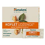 Himalaya Koflet Lozenges, Original Menthol Flavor, Natural Herbal Cough Drop for Warming Relief and Soothing Throat Comfort, 130 mg, 20 Lozenges