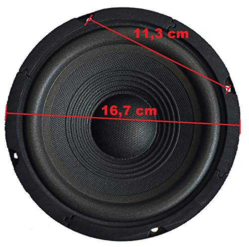 ALTOPARLANTE WOOFER 100w - sospensione morbida - 165MM 8 Ohm 16,5 cm 6,5