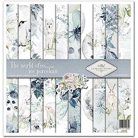 ITD Collection - Emballage Scrapbooking 12 x 12 pouces, Papier Scrapbooking, Découpage, Décoration, Papier Décor, Papier Carton - 310 x 320 mm (Le monde de la porcelaine de glace) (SLS020)