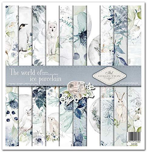 ITD Collection - Scrapbook-Paket, Scrapbooking-Papier, Dekorpapier, Papiergröße – 310 x 320 mm (die Welt des Porzellans)