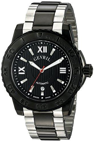 Gevril Seacloud, orologio svizzero da uomo con cinturino in acciaio...
