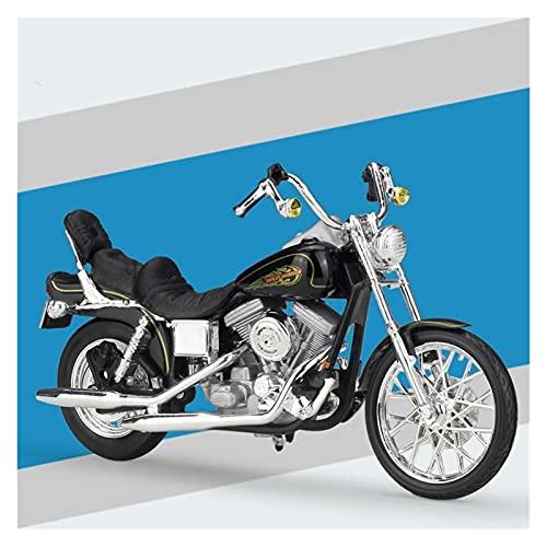 El Maquetas Coche Motocross Fantastico 1:18 Motocicleta De Aleación Simulación En Miniatura Para Harley 1997 FXDWG Dyna Wide Glide Modelo Colección Adultos Regalo Coche Juguete Regalos Juegos Mas Vend