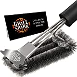 5. Grill Spark Grill Brush and Scraper 18 Inch | Stainless Steel Wire Bristles Brush | Barbecue Cleaning Brush for Weber Gas/Charcoal Grilling Grates | BBQ Grill Accessories