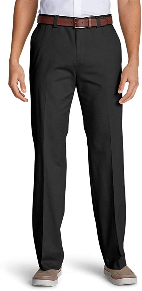 Eddie Bauer Men's Casual Performance Flat-Front Chinos - Classic