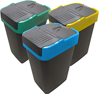 Poubelle de Tri sélectif   Bac pour le Recyclage de Plastique, Papier et Verre   EUROXANTY Articles de Ménage   60 L