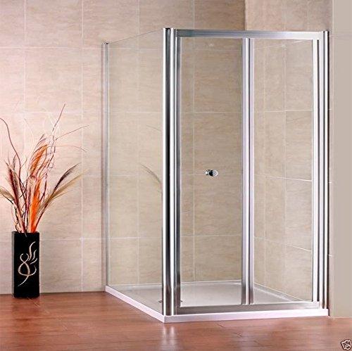 700 x 700 mm mampara de ducha pantalla de cristal puerta del cubículo con panel lateral al siguiente día hábil entrega: Amazon.es: Hogar