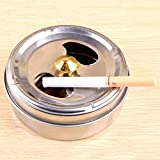 YZLYJL Cenicero de Coche, Cenicero portátil de Acero Inoxidable para Cigarrillos, cenicero, rotación, Gran Capacidad, rotación, sin Humo