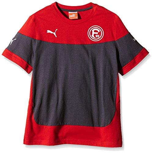 PUMA Kinder T-Shirt Fortuna Düsseldorf Leisure Tee Red-Ebony, 140