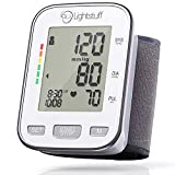 Blood Pressure Cuff - Irregular Heart Beat Indicator - 5.3-8.5' Wrist Size - Accurate, Dependable Automatic BP Machine for Home Health Care - Lightstuff Easy Digital Blood Pressure Monitor