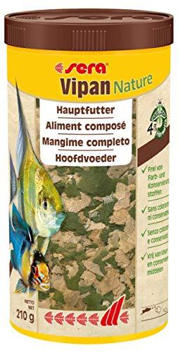 Sera Vipan Nature El alimento Principal con un 4% de harina de Insectos y con Efecto prebiótico, 1 LTR, 1000