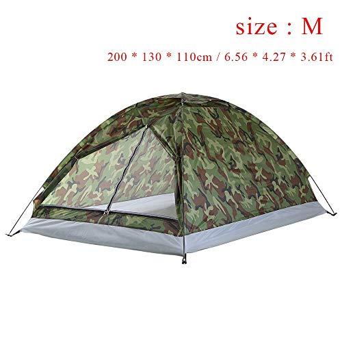 Générique Arongbc Tente de Camping ultralégère à Couche Unique résistante à l'eau pour 2 Personnes avec Sac de Transport 1,2 kg, Marron
