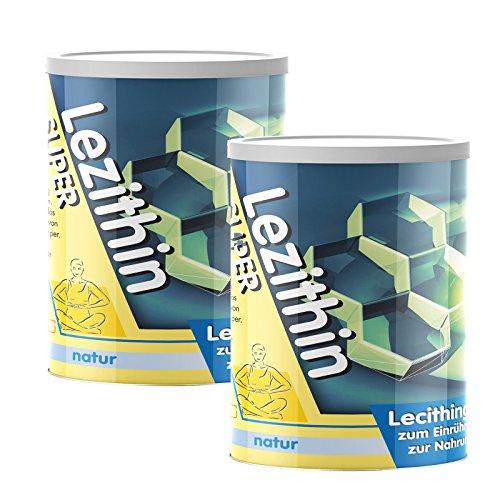 Provista Lezithin Pulver - Lecithin Granulat Pur - 2x250g - GVO free - gentechnikfrei