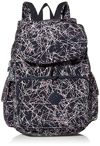 Kipling womens City Pack Medium Backpack, Navy stick Print, One Size