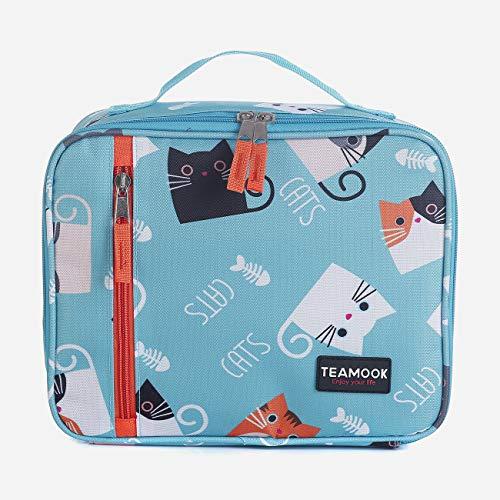 TEAMOOK Kühltasche Lunch Tasche Isoliertasche Lunchbox für Frauen Männer und Kinder 5L Helle Katze