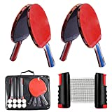 Ensemble de ping-Pong Comprend Un Filet de ping-Pong pour n'importe Quelle Table, 4...