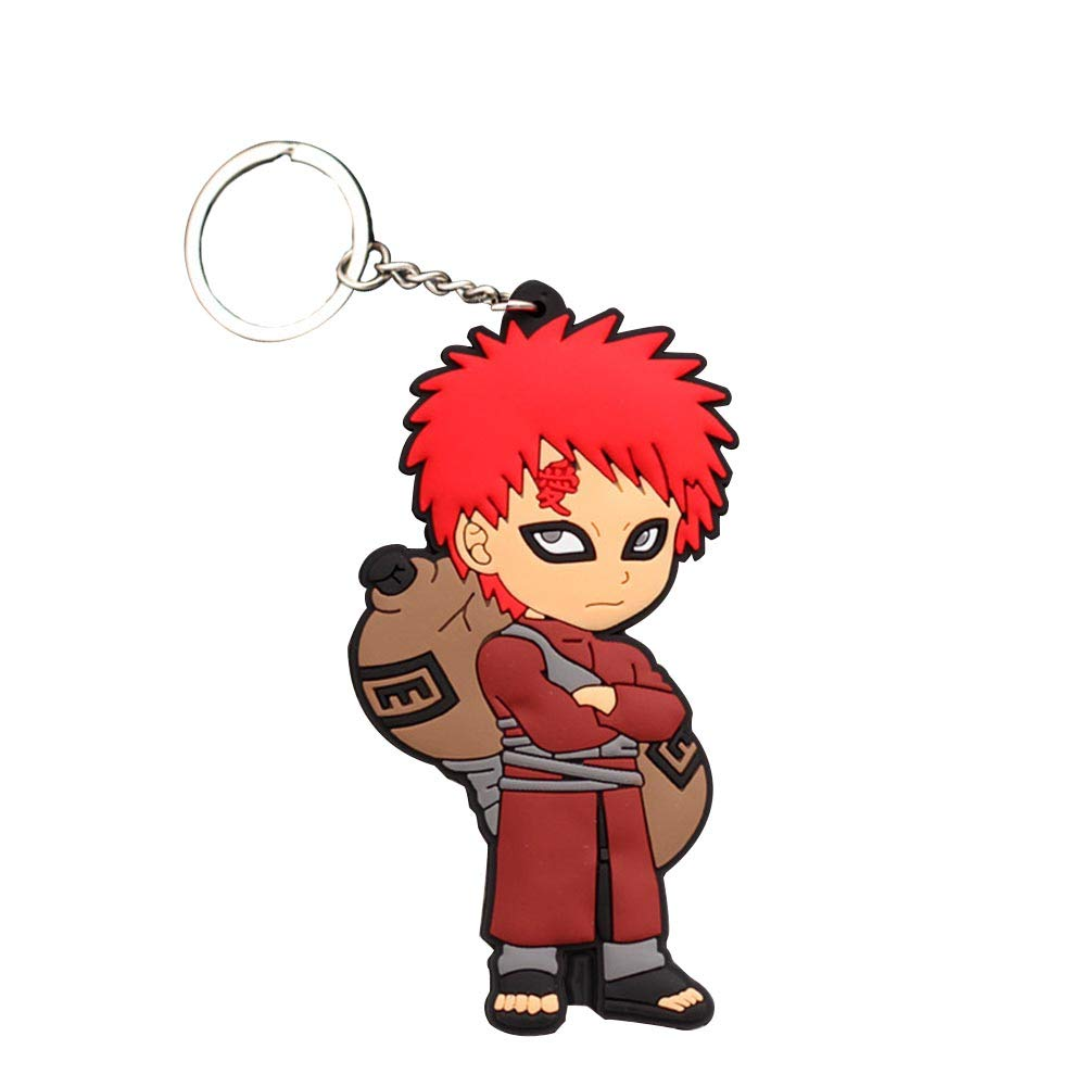 Amazon Com Elibeauty Japanese Anime Pvc Silicone Keychain Naruto One Punch Man Hitman Reborn Black Butler Soft Key Ring Collectible Pendant Gift For Anime Fans Gaara 01 Home Kitchen