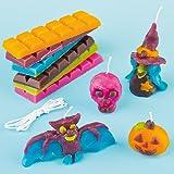 Baker Ross Candele Halloween Fai da Te per Bambini (Confezione)