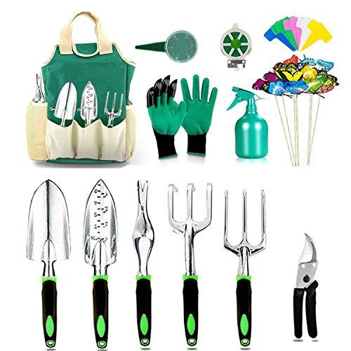 Garden Tools Set with 40 Pieces Hand Tools Garden Tools Bag with Heavy Duty Tools Garden Tool Kit with Foldable Handle Queen