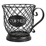 SODIAL Porta caffè nel Cialda, Tazza per Organizer, Portabicchieri Porta caffè e Cialde per caffè Espresso, Cesto Portaoggetti per Tazza di caffè Cesto per Snack di Frutta