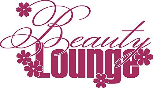 GRAZDesign Wandtattoo mit Glitzersteinen Schminkecke, Klebefolie Beauty Lounge, Wandtattoo Badezimmer / 86x50cm