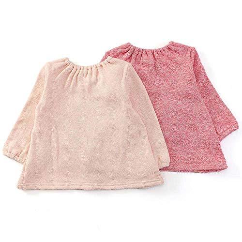 『coeur a coeur (クーラクール) トレーナー (70~100cm) キムラタンの子供服 (44419-184) ピンク 80』の2枚目の画像