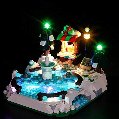 XW Kit De Luces USB para Iluminación De Bloques De Construcción - Juego De Luces LED Compatible con El Modelo Lego 40416 Winter Ice Rink - No Incluye El Modelo Lego