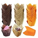 Tulip Baking Paper Cups Medium Cupcake Muffin Liners Wrappers Baking Cups Muffin Tins Treat Cups for Weddings, Birthdays, Baby Showers, Christmas 150 Pieces…