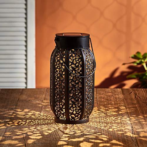 Lights4fun Marokkanische Solar Laterne mit warmweißer SMD LED 27,7cm