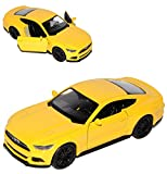 Welly Ford Mustang VI Coupe Gelb AB 2014 ca 1/43 1/36-1/46 Modell Auto