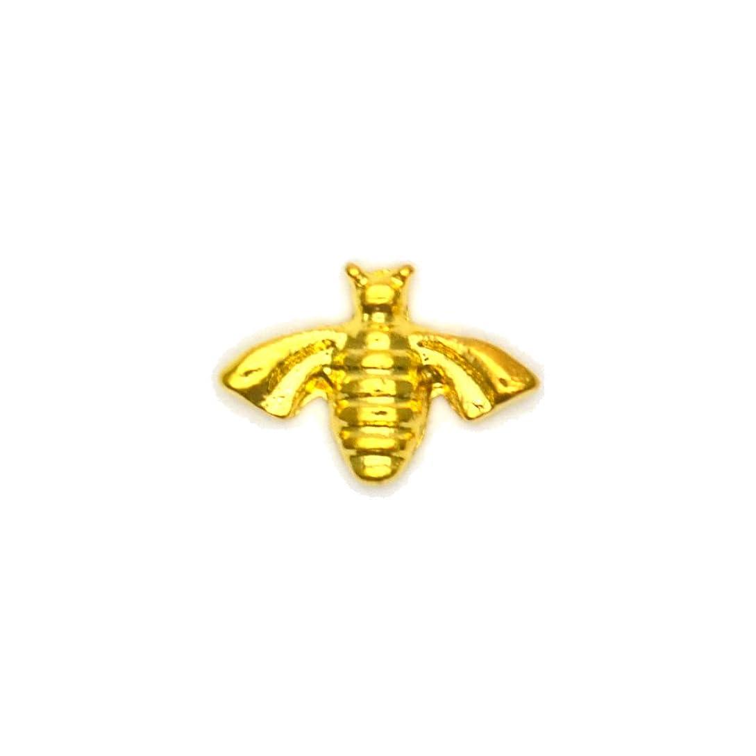 くちばし人気ファンタジーメタルパーツ ミツバチパーツ ゴールド 4個入 蜂 ミツバチ ハニービー